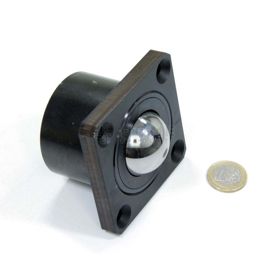 Ball Transfer Unit, 38.1 mm, with head flange and mounting holes, for heavy load