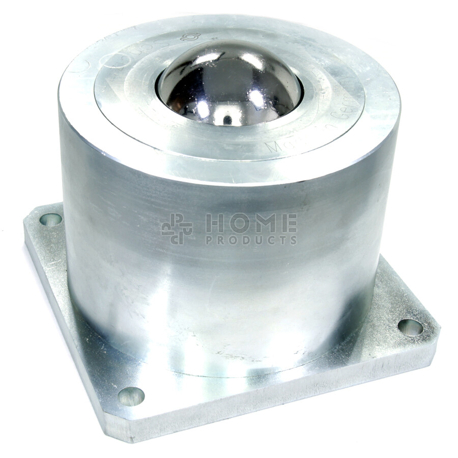 Ball Transfer Unit, 76.2 mm, with base flange and mounting holes, for heavy load